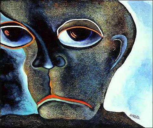 Eduardo Expósito, El pensador, Menschen: Mann, Gefühle: Depression, Abstrakter Expressionismus