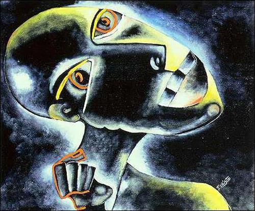Eduardo Expósito, La fuerza del cuerpo, Gefühle: Aggression, Diverse Menschen, Abstrakter Expressionismus