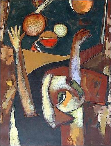 Pablo Peréa, Composición Con Naranja, Menschen: Frau, Pflanzen: Früchte