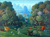 Ramon-Vazquez-Landschaft-Fruehling-Pflanzen-Blumen