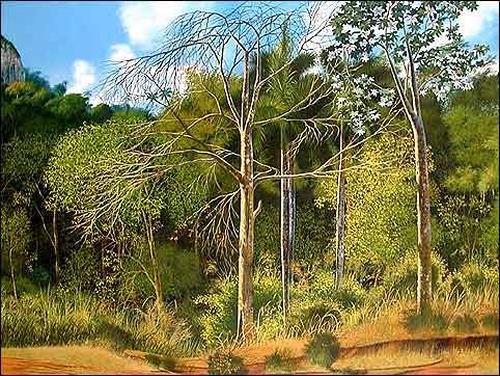Eduardo Estrada, Camino al monte, Diverse Landschaften, Natur: Wald, Expressionismus