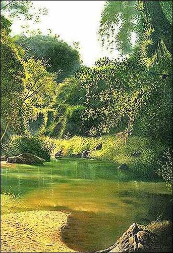 Eduardo Estrada, Saliendo del Río, Natur: Wasser, Natur: Wald, Expressionismus