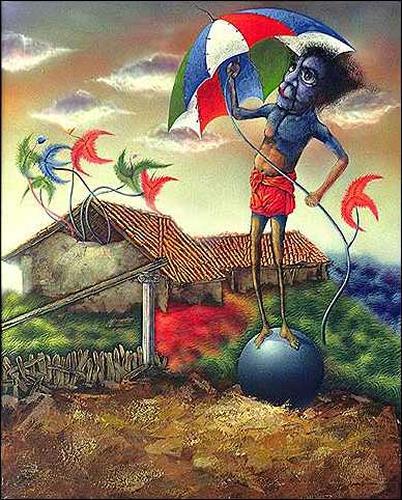 Ulises Hevia Bretaña, Una sombrilla para el mundo, Fantasie, Humor, Expressionismus