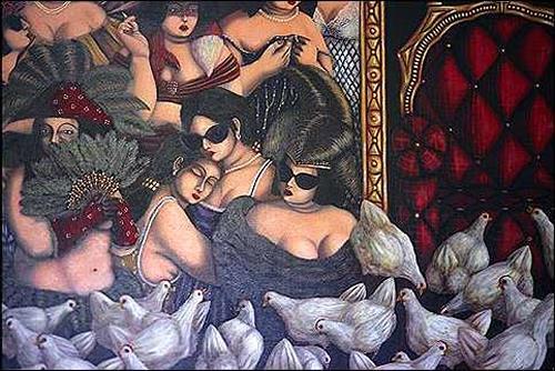 Augusto Bordelois, Viviendo sin el gallo, Symbol, Menschen: Frau