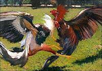 Lorenzo Linares, Paisaje con gallos