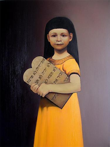 Ghenadie SONTU, Moses - ten commandments, Religion, Menschen: Porträt, Realismus