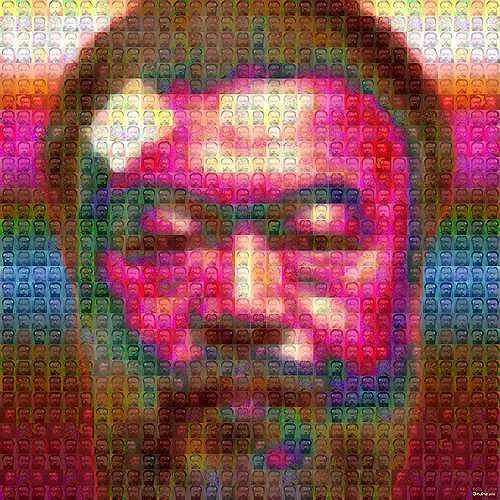 Dieter Bruhns, 03 mosaic, Menschen: Gesichter, Gefühle: Depression, Gegenwartskunst, Abstrakter Expressionismus