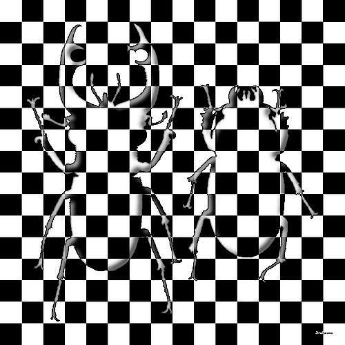 Dieter Bruhns,  chessBeetles , Fantasie, Spiel, Gegenwartskunst, Abstrakter Expressionismus