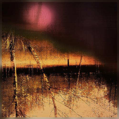 Dieter Bruhns, Red Moon, Landschaft: Sommer, Landschaft: Ebene, Gegenwartskunst, Expressionismus