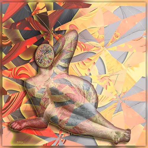 Dieter Bruhns, Calm and Cool, Fantasie, Abstrakte Kunst, Abstrakter Expressionismus