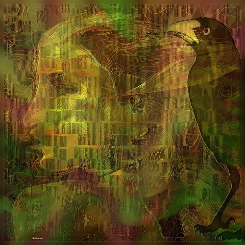 Dieter Bruhns, Portions of Motion, Fantasie, Abstrakte Kunst, Abstrakter Expressionismus