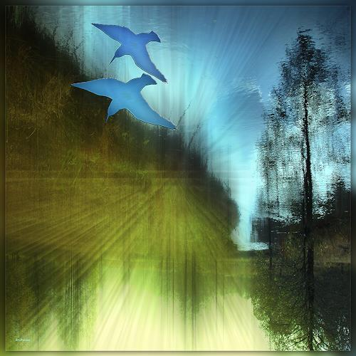 Dieter Bruhns, Hunting Time, Fantasie, Abstrakte Kunst