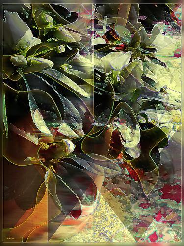Dieter Bruhns, Floral Impression, Abstraktes, Abstrakte Kunst