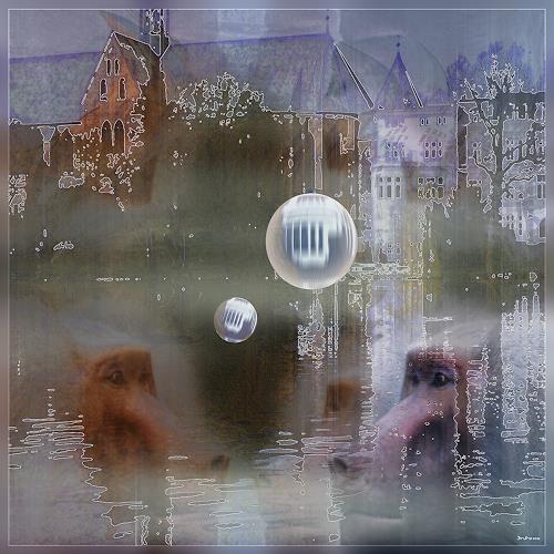 Dieter Bruhns, Steam Bath, Fantasie, Abstrakte Kunst
