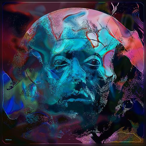 Dieter Bruhns, Ancient Face, Fantasie, Abstrakte Kunst
