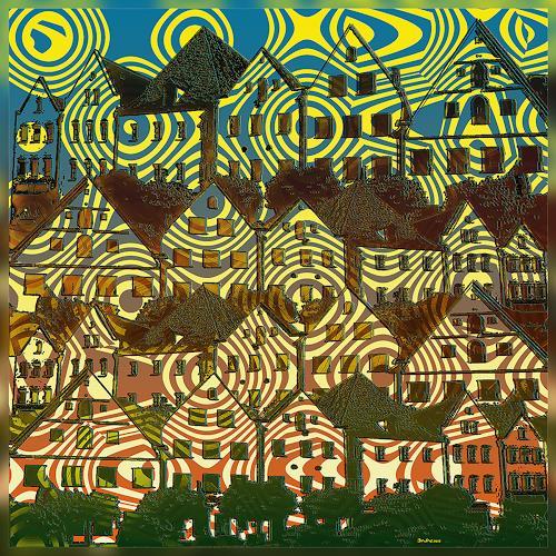 Dieter Bruhns, Noon, Fantasie, Abstrakte Kunst