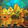 Dieter Bruhns, Colored Houses