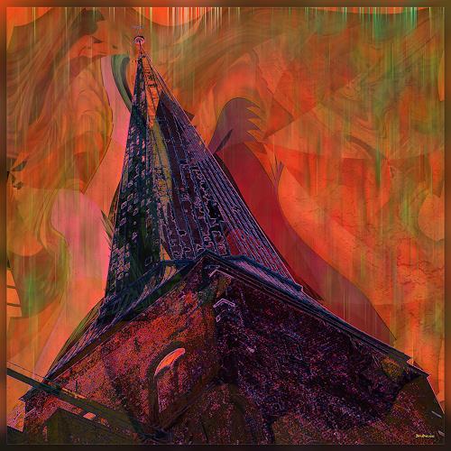 Dieter Bruhns, Tower, Fantasie, Abstrakte Kunst