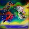 Dieter Bruhns, Four Seabirds