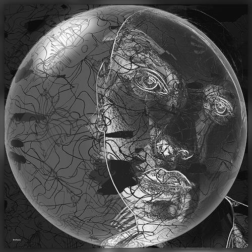 Dieter Bruhns, Spherized, Fantasie, Abstrakte Kunst, Abstrakter Expressionismus