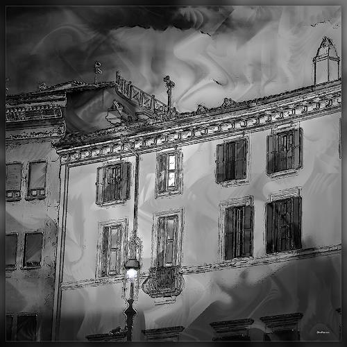Dieter Bruhns, Creeping Shadows, Fantasie, Abstrakte Kunst