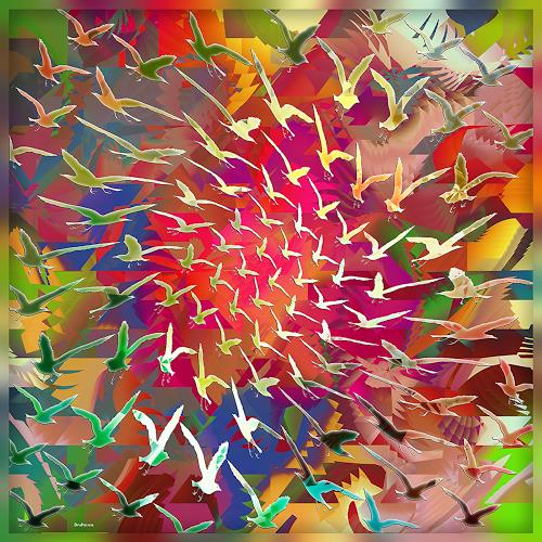 Dieter Bruhns, Color Cyclone, Fantasie, Abstrakte Kunst, Abstrakter Expressionismus