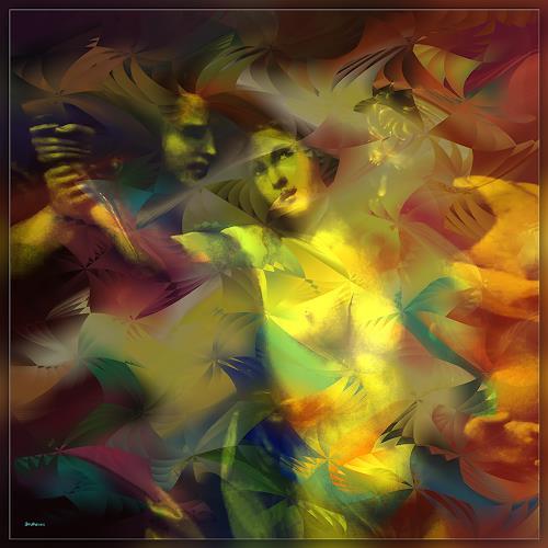 Dieter Bruhns, Lucretia's Fight, Fantasie, Abstrakte Kunst