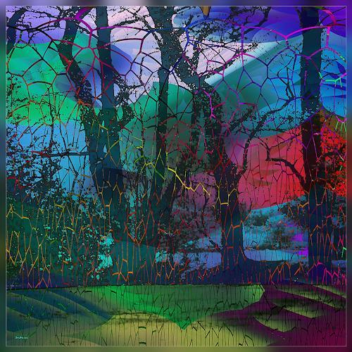 Dieter Bruhns, Secret Place, Fantasie, Abstrakte Kunst