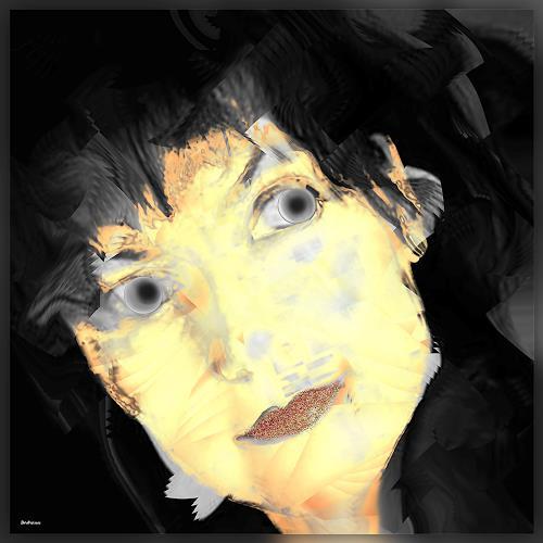 Dieter Bruhns, Female Portrait, Kerstin, Menschen: Porträt, Abstrakte Kunst, Abstrakter Expressionismus