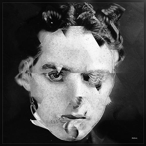 Dieter Bruhns, Male Portrait, With Charlie, Menschen: Porträt, Abstrakte Kunst
