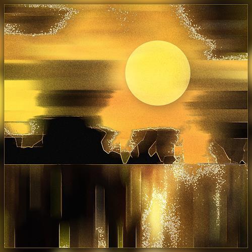 Dieter Bruhns, Sunset, Fantasie, Abstrakte Kunst