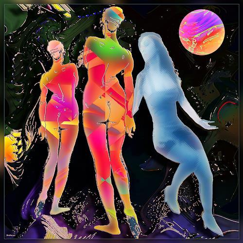 Dieter Bruhns, Changing of Seasons, Fantasie, Abstrakte Kunst