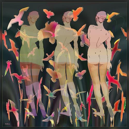 Dieter Bruhns, Springtime, Fantasie, Abstrakte Kunst, Abstrakter Expressionismus