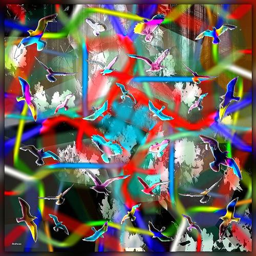 Dieter Bruhns, Colored Air, Abstraktes, Abstrakte Kunst
