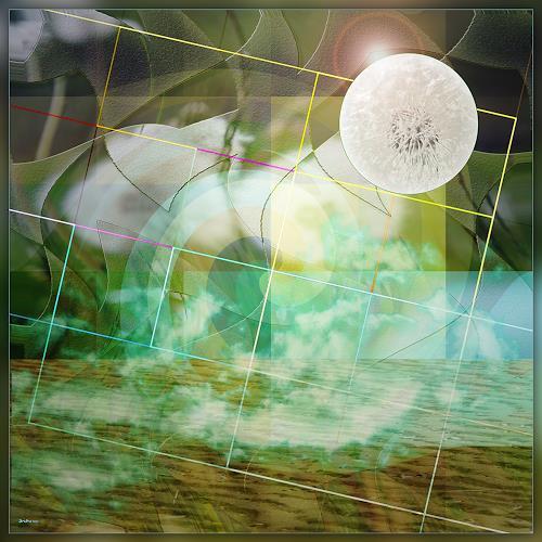 Dieter Bruhns, Dreamland, Fantasie, Abstrakte Kunst