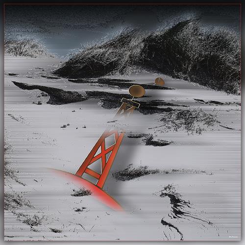 Dieter Bruhns, Boken Sign, Landschaft: See/Meer, Abstrakte Kunst