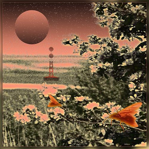Dieter Bruhns, Coast Flowers, Fantasie, Abstrakte Kunst