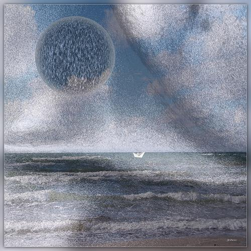 Dieter Bruhns, Blue Coast, Landschaft, Abstrakte Kunst
