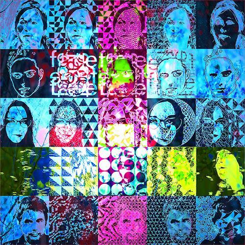 Dieter Bruhns, Faces, Menschen, Abstrakte Kunst