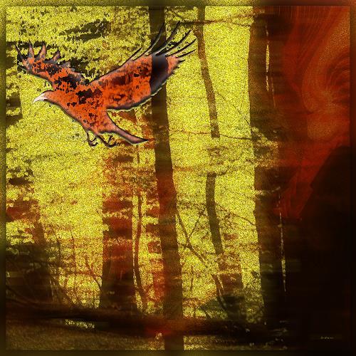 Dieter Bruhns, Fire Red, Landschaft, Abstrakte Kunst