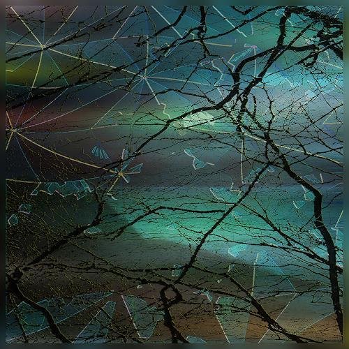 Dieter Bruhns, Cold Border, Landschaft, Abstrakte Kunst