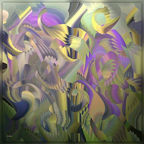 Dieter Bruhns, Vegetation, Abstraktes, Abstrakte Kunst