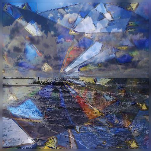 Dieter Bruhns, Coast and Colors, Landschaft, Abstrakte Kunst, Abstrakter Expressionismus