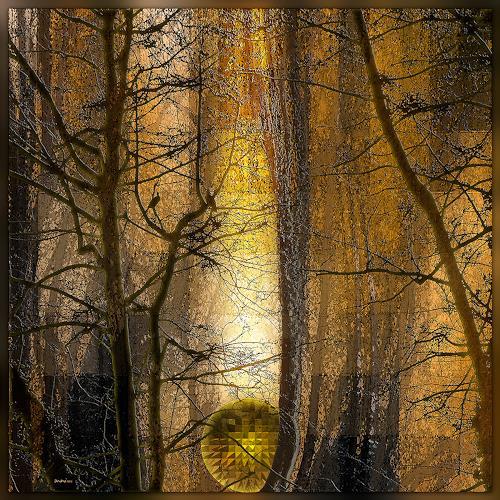 Dieter Bruhns, Forest Dream, Landschaft, Abstrakte Kunst