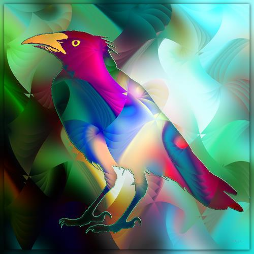 Dieter Bruhns, Singing Bird, Natur: Diverse, Abstrakte Kunst