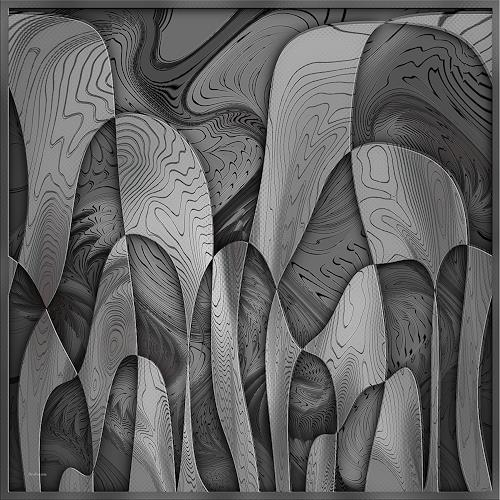 Dieter Bruhns, Shades of Gray, Abstraktes, Abstrakte Kunst