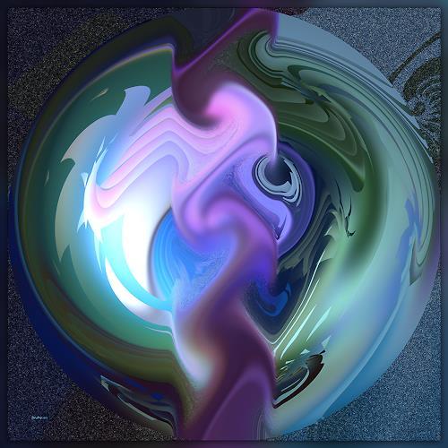 Dieter Bruhns, Bubble, Abstraktes, Abstrakte Kunst