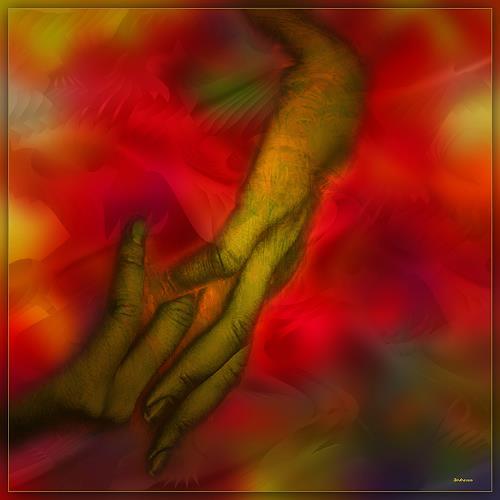 Dieter Bruhns, Red Peace, Abstraktes, Abstrakte Kunst