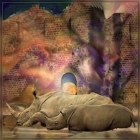 Dieter-Bruhns-Tiere-Moderne-Abstrakte-Kunst
