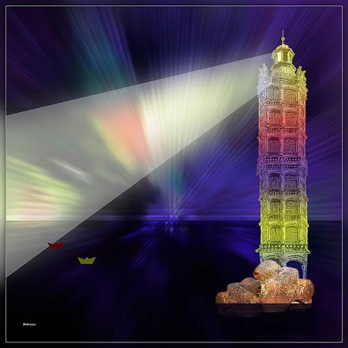 Dieter Bruhns, Light House, Fantasie, Abstrakte Kunst